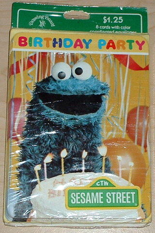 File:Drawing board 1980s cookie monster party invitations.jpg
