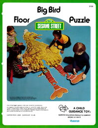Child guidance questor 1973 big bird floor puzzle