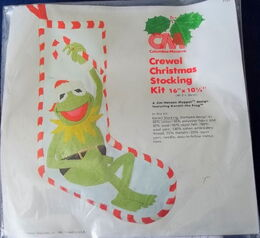 Columbia minerva crewel christmas stocking kermit set