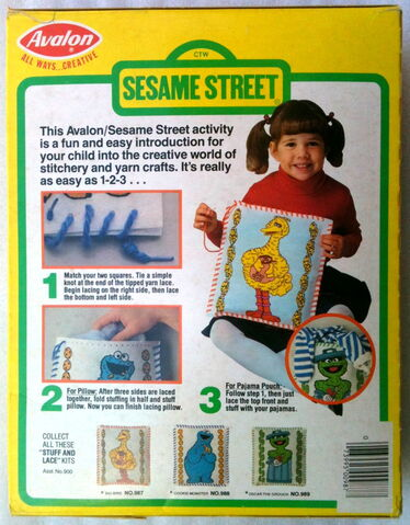 File:Avalon 1981 sesame stuff and lace pillow or pouch crafts kit 2.jpg