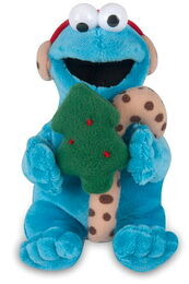 Gund 2010 musical holiday plush cookie monster