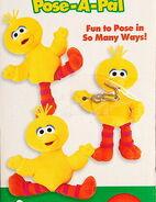 Fisher-price 1999 pose-a-pal plush big bird 3