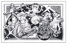 Drewstruzan muppet drawing