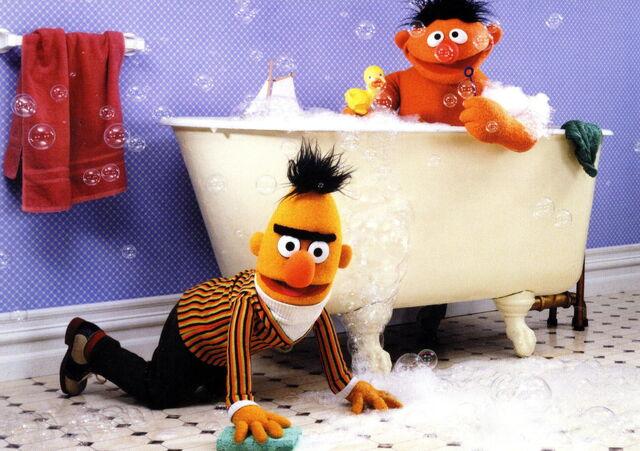 File:Ernie bert bath.jpg
