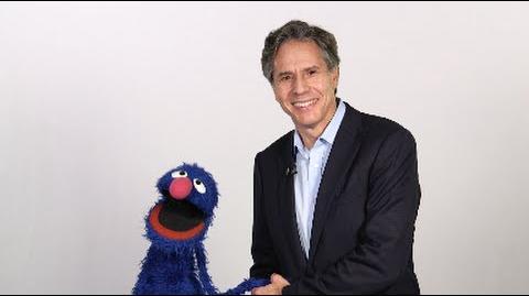 Grover meets Deputy Secretary Tony Blinken to talk about refugees.