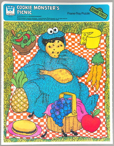 File:Whitman 1979 frame-tray puzzle cookie monster's picnic.jpg