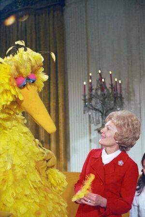 Pat Nixon Big Bird 12 20 1970