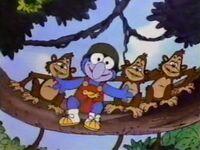 Baby gonzo monkeys