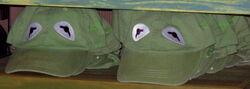 Kermit baseball caps disneyland 2010