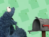 Cookie eats mailbox