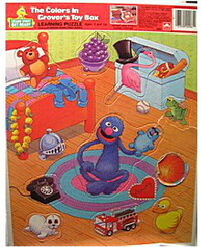 Grover's toy box