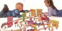 Sesame Street train set (Tootsie Toy)