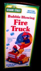 Bubble blowing fire truck 2