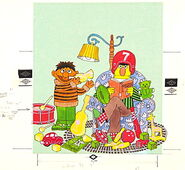 Colorforms ernie and bert's playtime 2