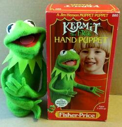Fisher-price kermit hand puppet 1