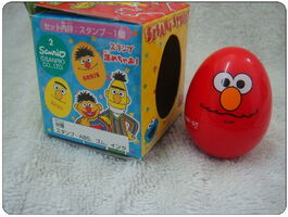 Sanrio egg rubber stamp elmo 1