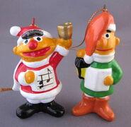 Gorham 1980 christmas ornaments ernie bert caroling