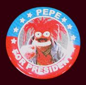 Hot topic button pepe for president