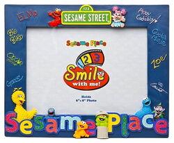 Sesame place frame smile
