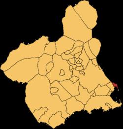San Pedro der Pinatar en la Rigión e Murcia