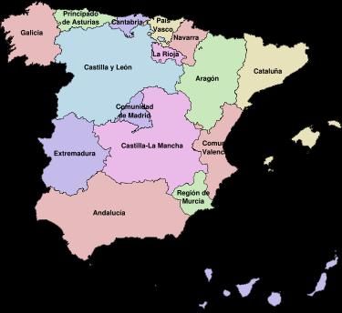 Comunidás utónomas d'España