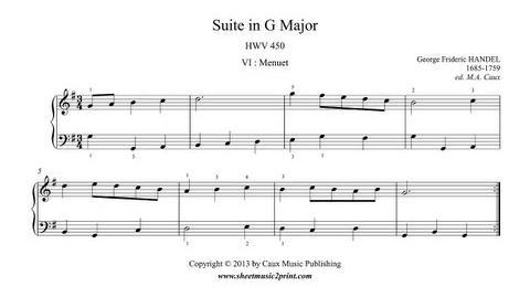 Handel Menuet in G Major, HWV 450