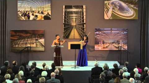 """double helix"" for Two Violins World Premiere"