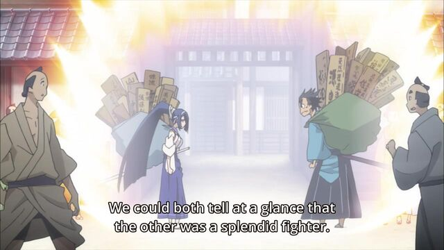 File:Genjuurou and Kanae getting ready to fight.jpg