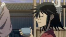 Jinbei having fun with Shungiku
