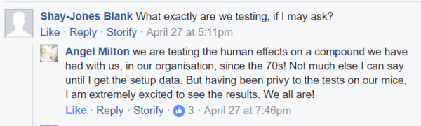 Angel reply what testing 70s mention april 27