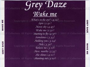 Grey Daze - Wake Me (Back)