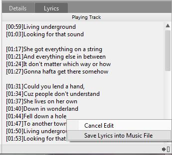 Save Lyrics
