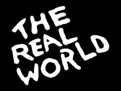 The real world title card