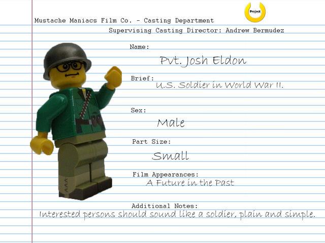 File:Audition Sheet - Pvt. Josh Eldon.jpg