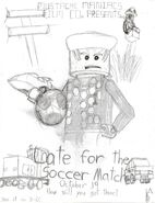 Late for the Soccer Match Concept Poster