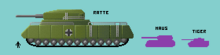 Comparison of Landkreuzer P 1000 Ratte, Maus and Tiger tanks