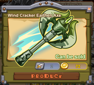 Wind Cracker Earthen Axe