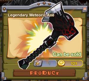 Legendary Meteoric Axe