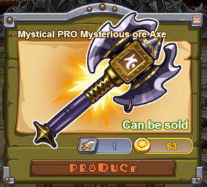 Mystical PRO Mysterious Ore Axe