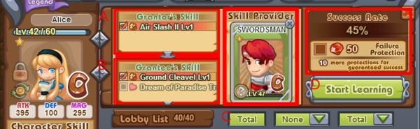 Skill Train Interface