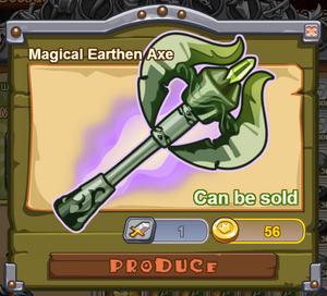 Magical Earthen Axe