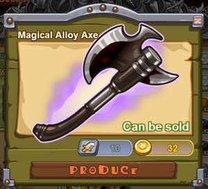 Magical Alloy Axe