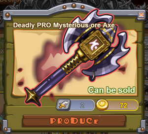 Deadly PRO Mysterious Ore Axe