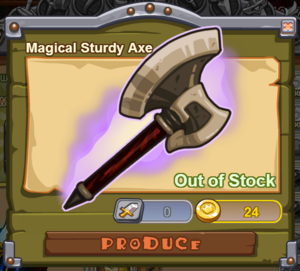 Magical Sturdy Axe