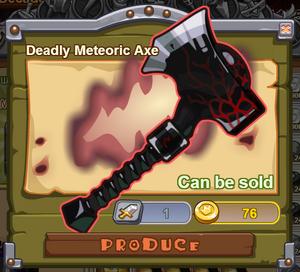 Deadly Meteoric Axe