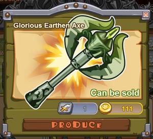 Glorious Earthen Axe