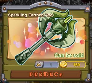 Sparkling Earthen Axe