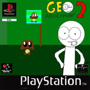 Geo Adventure 2 PS1 cover PAL