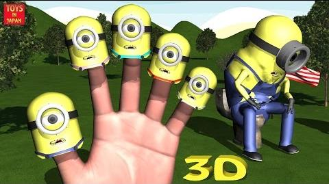 MINIONS GO TO THE TOILET AND FART Finger Family Nursery Rhymes for Children 3D Animation