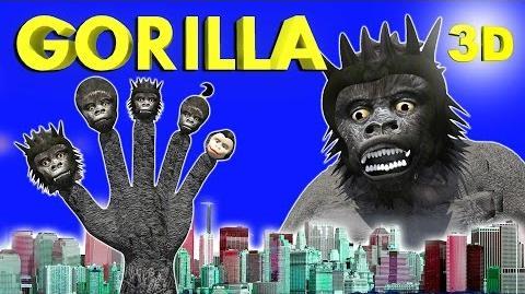 Crazy Gorilla Finger Family Nursery Rhymes for Children in 3D MY KIDDY WORLD